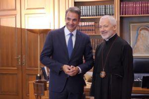 Ψηλά στην ατζέντα της Κυβέρνησης τα ζητήματα της Ομογένειας – Η συνάντηση του Πρωθυπουργού με τον Αρχιεπίσκοπο Καναδά Σωτήριο
