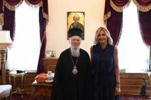Η κυρία Μαρέβα Γκραμπόφσκι στο Οικουμενικό Πατριαρχείο