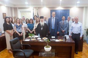 Αγιασμός στο γραφείο του Υφυπουργού Οικονομικών και βουλευτή Ημαθίας,από τον Μητροπολίτη Βεροίας Παντελεήμονα