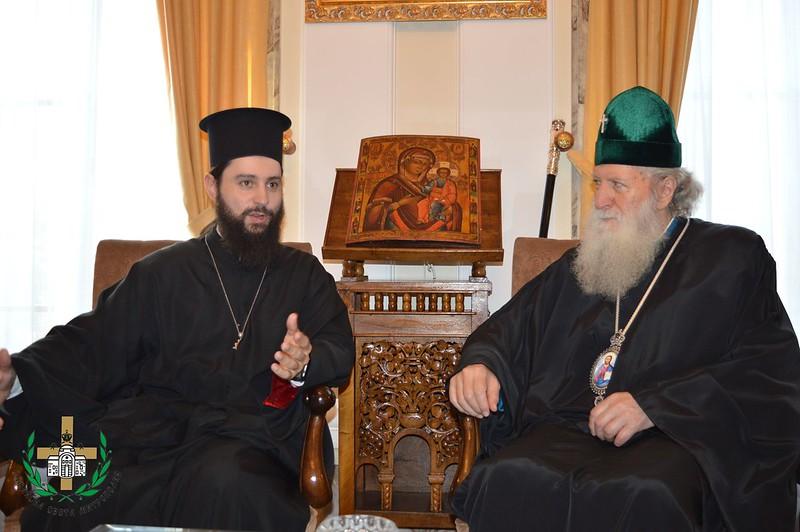 Στον Πατριάρχη Βουλγαρίας Νεόφυτο ο π. Νικόδημος Καβαρνός