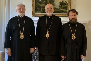 Ο Αρχιεπίσκοπος Αμερικής Ελπιδοφόρος συνάντησε τον Μητροπολίτη Ιλαρίωνα