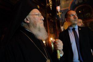 Στην αδελφότητα της Ι.Μ. Εσφιγμένου ο Οικ. Πατριάρχης