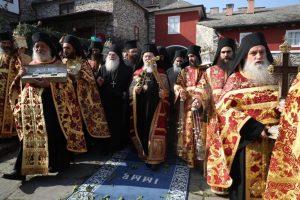 Ιστορική επίσκεψη του Οικουμενικού Πατριάρχη στην Ι.Μ.Μ. Βατοπαιδίου.