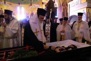 Ο Αρχιεπίσκοπος Αθηνών Ιερώνυμος στην Εξόδιο της μακαριστής Γερόντισσας Στυλιανής, στη Μονή Παντοκράτορος, ΤΑΟΥ Πεντέλης