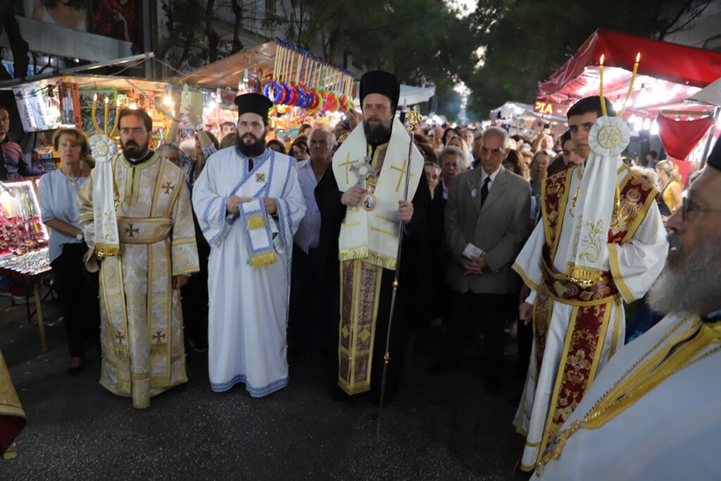 Ο Επίσκοπος Ωρεών στη Λιτάνευση του Αγίου Αρτεμίου