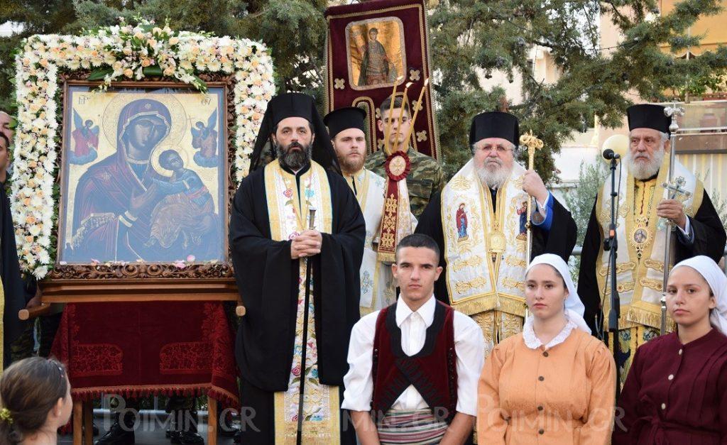Την θαυματουργή Eικόνα της Παναγίας της Κανάλας εκ Κύθνου,υποδέχτηκαν στον Ναό του Αγ. Δημητρίου Βύρωνος