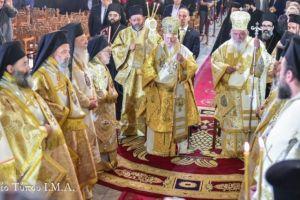 Συλλείτουργο της Α.Θ.Π. του Οικουμενικού Πατριάρχου κ.κ. Βαρθολομαίου και της Α.Θ.Μ. του Αρχιεπισκόπου Αθηνών και πάσης Ελλάδος κ.κ. Ιερωνύμου, εις τον Ιερό Ναό της Παναγίας Αχειροποιήτου Θεσσαλονίκης.