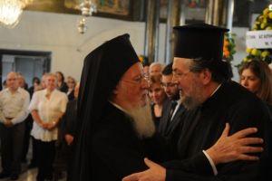 Ο Οικουμενικός Πατριάρχης ευχήθηκε στον εορτάζοντα Γέροντα Πριγκηποννήσων Δημήτριο