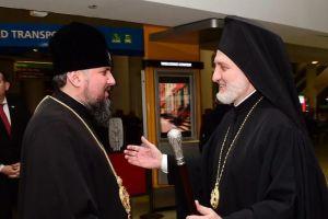 Ο Αρχιεπίσκοπος Αμερικής Ελπιδοφόρος υποδέχθηκε τον Κιέβου Επιφάνιο