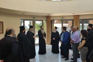 Ευχάριστη συνάντηση γνωριμίας και επικοινωνίας του Φθιώτιδος Συμεών με τα Στελέχη της Ιεράς Μητροπόλεως