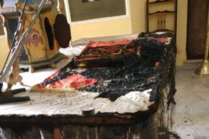 Πρωτοφανές: Πυρπόλησαν την Αγία Τράπεζα σε εκκλησία στο Χαλκειός της Χίου