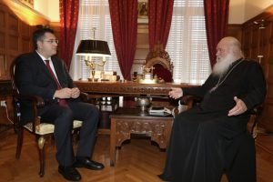 Στον Αρχιεπίσκοπο Αθηνών Ιερώνυμο ο Απ. Τζιτζικώστας