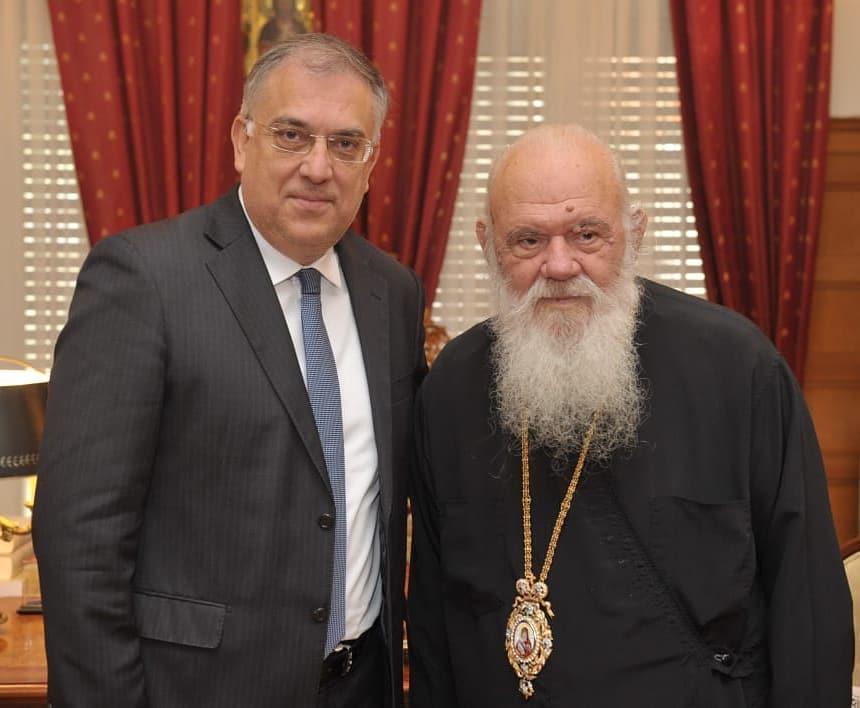 Στον Αρχιεπίσκοπο Αθηνών ο υπουργός Εσωτερικών κ.Θεοδωρικάκος