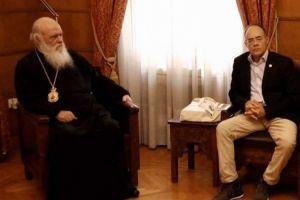 Συνάντηση Βουλευτή Χίου Ανδρέα Μιχαηλίδη με Αρχιεπίσκοπο Ιερώνυμο.