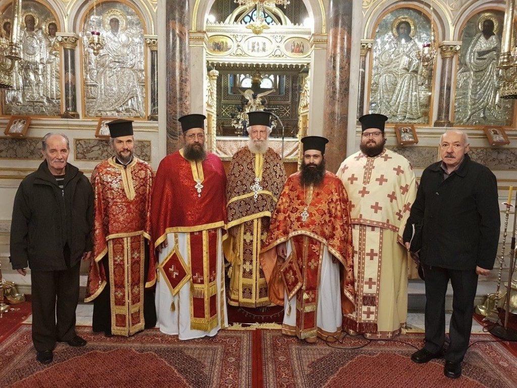 Η εορτή του σεβαστού γέροντα π. Στυλιανού Μανώλη στη Μητρόπολη Χίου