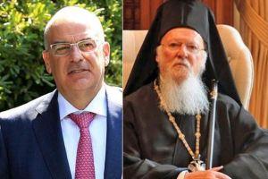 Ο Υπ. Εξωτερικών κ. Δένδιας επικοινώνησε με τον Οικουμενικό Πατριάρχη