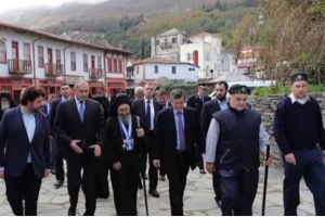 H επίσκεψη του Προέδρου της Βουγαρίας στο Άγιον Όρος