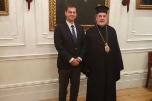 Στον Αρχιεπίσκοπο Θυατείρων Νικήτα ο Υπουργός Τουρισμού κ. Θεοχάρης
