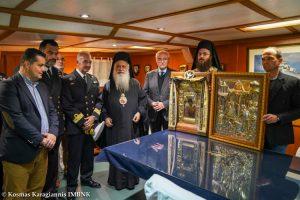 Αναχώρησε από τη Θεσσαλονίκη, η Ι. Εικόνα της Παναγίας Σουμελά, μεταφέρθηκε στο αντιτορπιλικό πλοίο «Βέλος». •Ακολουθία του Μύρου του Αγίου Δημητρίου.