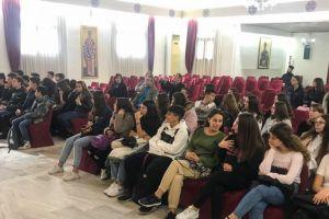 Μαθητές και μαθήτριες του 4ου Γυμνασίου Καβάλας( Ζουμπουλάκειου) επισκέφθηκαν την Ι. Μητρόπολη Λαγκαδά