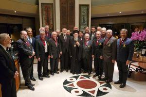 Ο Αρχιεπίσκοπος Αμερικής και Άρχοντες Οφφικιάλιοι των ΗΠΑ στον Οικουμενικό Πατριάρχη