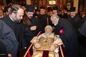 Τρισάγιο στον προκάτοχό του Γέροντα Χρυσόστομο τέλεσε ο Μητροπολίτης Περιστερίου Κλήμης.
