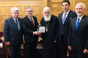 H AHEPA Ψυχικού στον Αρχιεπίσκοπο Αθηνών