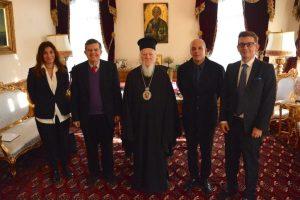 Ο μεγάλος ευεργέτης κ.Αθανάσιος Μαρτίνος,  Άρχων Έξαρχος της Αγίας του Χριστού Μεγάλης Εκκλησίας,   στον Οικουμενικό Πατριάρχη