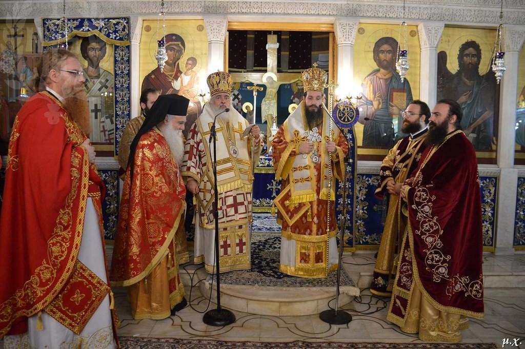Δισαρχιερατική Θεία Λειτουργία στον Πανηγυρίζοντα Ι.Ν. Αγίου Ελευθερίου Σταυρουπόλεως