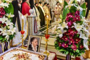 """"""" το τεσσαρακονθήμερο Ιερό Μνημόσυνο της αοιδίμου Ευαγγελίας Χρ. Τασσιά, μητρός του Σεβασμιωτάτου Μητροπολίτου Λαγκαδά, Λητής και Ρεντίνης κ. Ιωάννου """""""