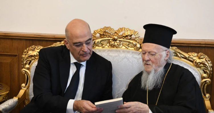 You are currently viewing Ο Νίκος Δένδιας και ο Αρμένιος Πατριάρχης Sahak Masalian στο Φανάρι