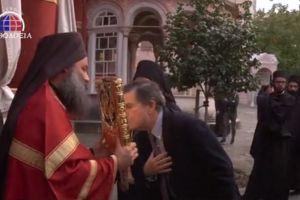 Ο Πολιτικός Διοικητής του Αγίου Όρους κ. Αθανάσιος Μαρτίνος στην Ι.Μ.Μ. Βατοπαιδίου