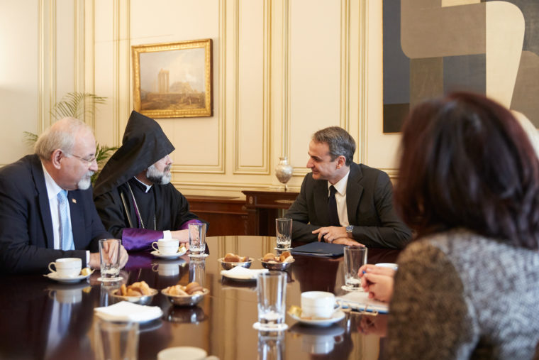 Με τον μητροπολίτη Ορθοδόξων Αρμενίων & μέλη της Κοινότητας συναντήθηκε ο Πρωθυπουργός Κυρ. Μητσοτάκης