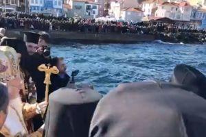 Ο Καθαγιασμός των Υδάτων στην Τρίγλια από τον Οικουμενικό Πατριάρχη