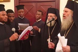 Ο Πατριάρχης Αλεξανδρείας με τους αφρικανούς ιερείς να εντυπωσιάζουν στα Κάλαντα