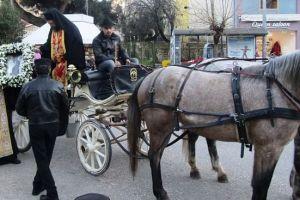 Με λαμπρότητα τα Γιάννινα τιμούν τον Πολιούχο τους.. Με την άμαξα η εικόνα του Αγίου Γεωργίου!