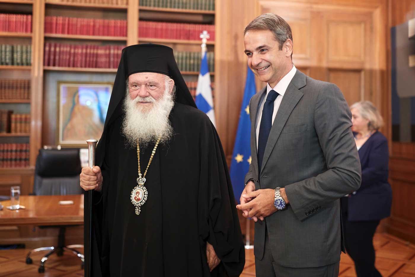 You are currently viewing Ο Πρωθυπουργός επισκέφθηκε τον Αρχιεπίσκοπο Ιερώνυμο