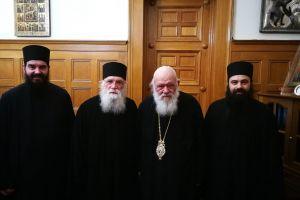 Ο Πρωτοσύγκελλος της Ιεράς Μητροπόλεώς μας στον Οικουμενικό Πατριάρχη και στον Αρχιεπίσκοπο Αθηνών