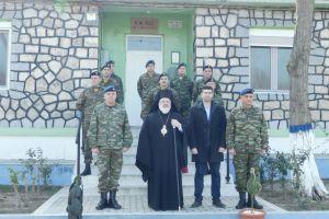 Ο ακρίτας Διδυμοτείχου Δαμασκηνός κοντά στους ακρίτες αστυνομικούς και συνοριοφύλακες επί ταις προλαβούσαις εορταίς…