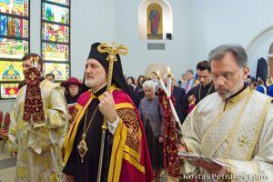 Ο Αρχιεπίσκοπος Ελπιδοφόρος στον Καθεδρικό Ναό Αγίου Φραγκίσκου