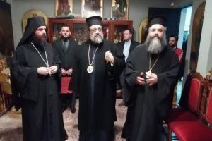 Ο Μητροπολίτης Μεσσηνίας Χρυσόστομος στην Ιερά Μονή Αγάθωνος