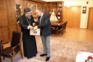 Επίσκεψη του Υφυπουργού Μακεδονίας-Θράκης κ. Θ. Καράογλου,στον Σεβ. Μητροπολίτη Σερρών και Νιγρίτης κ. Θεολόγο