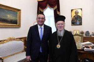 Ο Υφυπουργός Eξωτερικών της Ελλάδος Κ. Βλάσης στο Οικουμενικό Πατριαρχείο