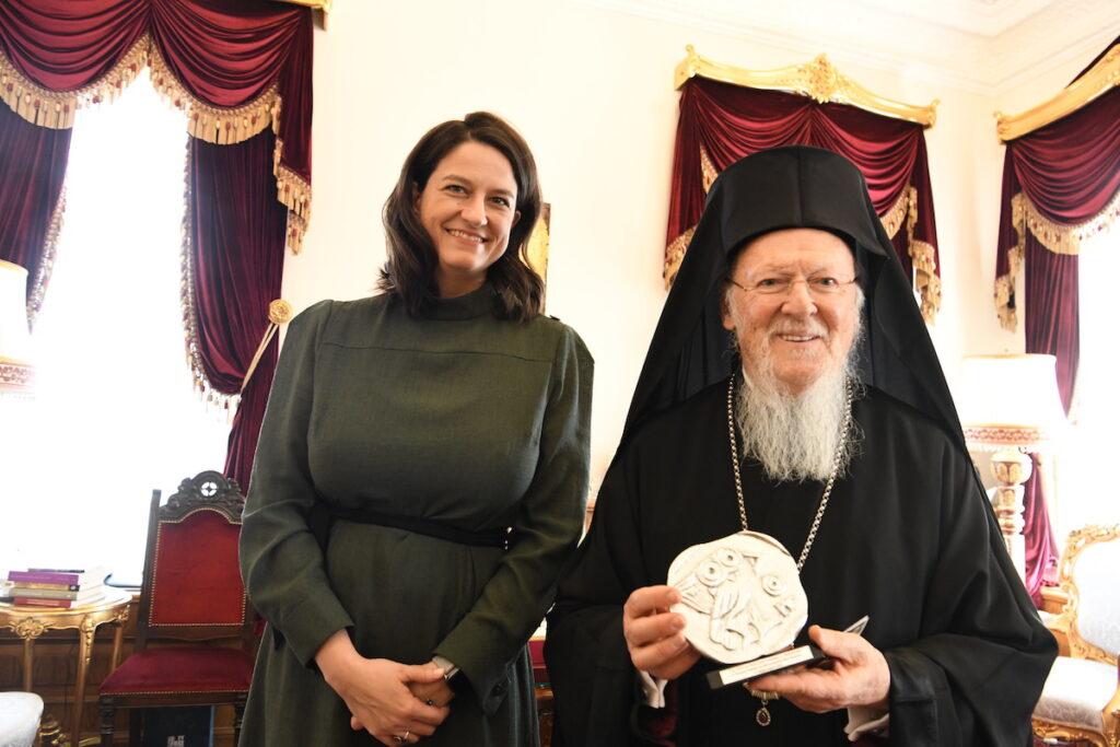 Η Νίκη Κεραμέως στον Οικουμενικό Πατριάρχη