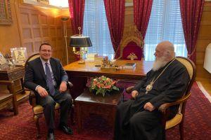 Ο Γ.Γ. Δημόσιας Διπλωματίας και Θρησκευτικών κ Αλεξανδρής στον Αρχιεπίσκοπο