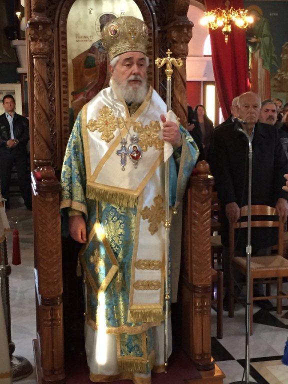 Ο Μητροπολίτης Φωκίδος  Θεόκτιστος στην Ιερά Μονή ΠαναγίαςΚουτσουριώτισσας