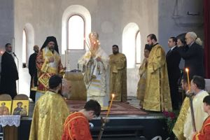 Ο Πατριάρχης στον Άγιο Χαράλαμπο στον Τσεσμέ