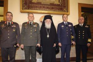 Η ηγεσία των Ενόπλων Δυνάμεων στον Αρχιεπίσκοπο Ιερώνυμο