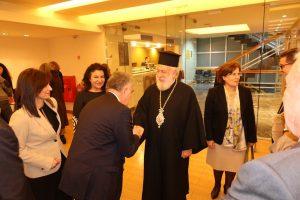 Ο Μητρ. Σύρου στην παρουσίαση του Βιβλίου του Καθηγητή Παναγιώτη Ρουμελιώτη