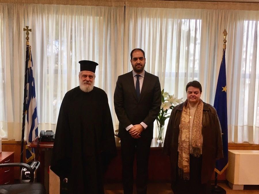 Συνάντηση Μητροπολίτη Σύρου με τον Υφυπουργό Υποδομών και Μεταφορών κ. Κεφαλογιάννη